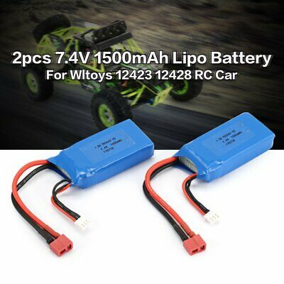 USB Charger for WLtoys 12428 BC841 7,4V 1500mAh 18650 RC Battery Replacement