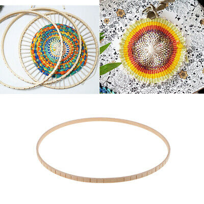 Wood Round Weaving Knitting Loom Tool for DIY Tapestry Wall Hanging Ornament