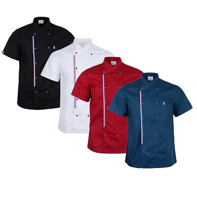 Breathable Chef Jackets Coat Short Sleeves Shirt Kitchen Uniforms for Women Men