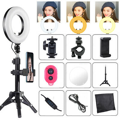 """9"""" LED Ring Light w/ Mount Kit & Stand For Camera Phone Selfie Video Live Stream"""