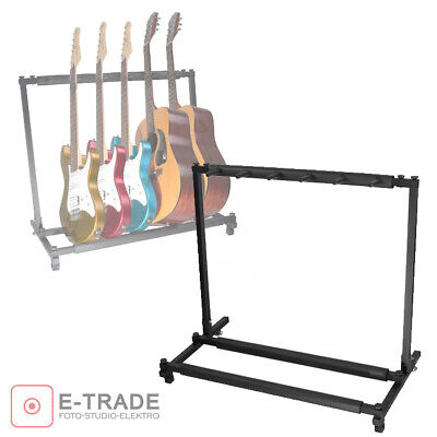 Guitar Stand for 5 Guitars /Holder Folding Rack Stand Stage Bass Acoustic Guitar