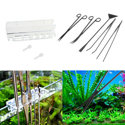 6 in 1 Aquascaping Kits Pruning Tools Holder Rack for Aquarium Planted Tank