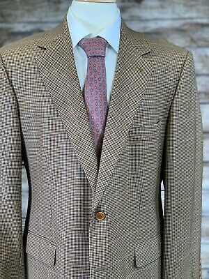 Brooks Brothers Sport Coat 43R Wool Brown Made in Italy Orig. $595 Blue