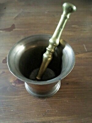 Antique Brass Apothecary Mortar & Pestle