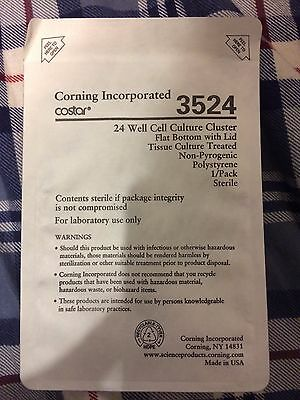 Corning® Costar® 3524 cell culture plates 24 well, flat bottom