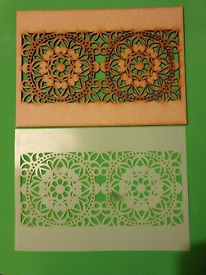 Decorative Panel Pattern Screening Grille MDF Stencil scrapbook Embellishment
