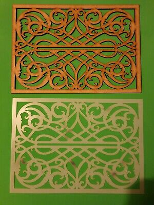 Decorative Panel Pattern Screening Grille MDF Stencil scrapbook Embellishment #4