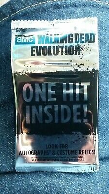 The Walking Dead Amc Evolutions One Hit Card Pack Sealed Negan Daryl Who Knows?