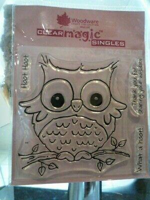 Woodware Clear Magic What a Hoot stamp FRS128