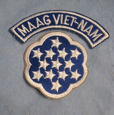 US Army Military Advisory Assistance Group Vietnam MAAG uniform patch tab set