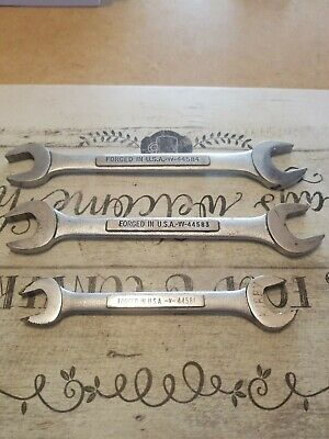 Craftsman Double Offset Open End Wrenches Set of 3 VV44584, VV44583, V44581 USA