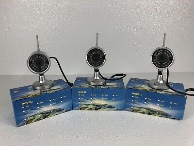 LYD Model 802 Security Cameras Lot Of 3