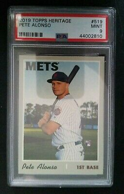 2019 Topps Heritage #519 Pete Alonso RC PSA 9 MINT New York Mets ROY