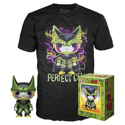 Funko Pop & Tee Shirt Dragon Ball Z DBZ Perfect Cell GameStop Exclusive Size Xs