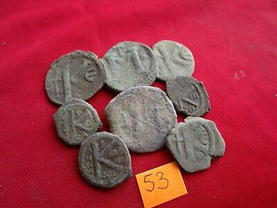 Ancient Byzantine coins - MIX GRADE COINS FOR CLEANING - 8 pieces . Lot 53.