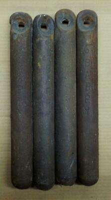 4 Antique Old Cast iron window sash weights 5-1/2 pounds Barry (Qty Available)