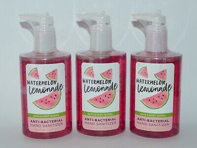 3 Bath&Body Works Sandía Limonada Antibacterias Mano Desinfectante Gel 225ml
