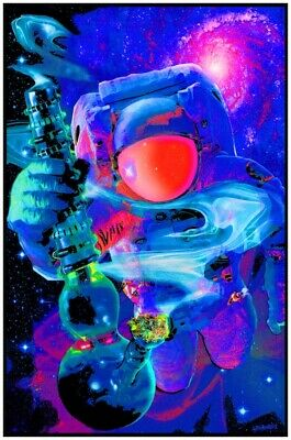 Spaced Out - Weed Blacklight Poster - 23X35 Flocked 53965