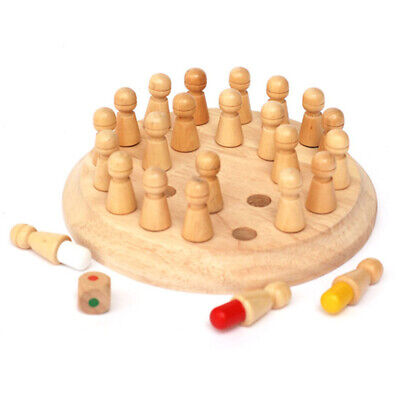 UK Wooden Memory Match Stick Chess Game Children Kids Puzzle Educational Toys