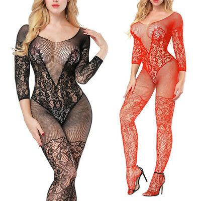 Sexy Lingerie Babydoll Crotchless Teddy Nightie Leotard Body Suit Stocking WFIT