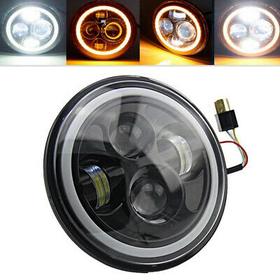 "7""inch Round LED Halo Angle Eyes Car Headlights for Jeep Wrangler TJ/LJ/CJ/JK"