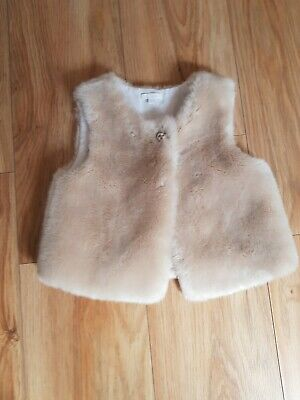 Chloe Fur Gilet Body Warmer Age 3