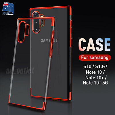 Shockproof Soft Hybrid TPU Case Clear Slim Cover For Samsung S10 Note 10 Plus 5G