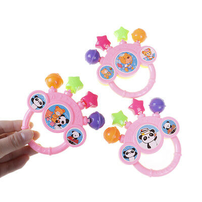 Cartoon Infant Baby Bell Rattles Newborns Toys Hand Toy For Childr AU