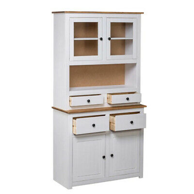 Tall Kitchen Storage Cupboard Cabinet Pantry Freestanding Solid Unit Furniture
