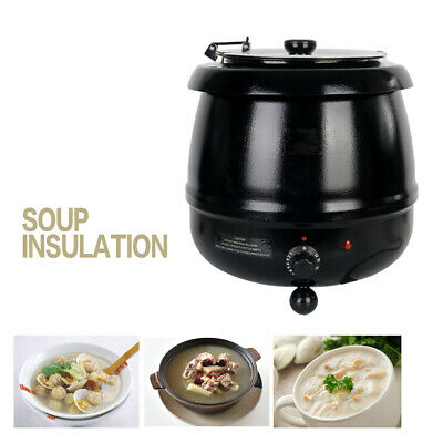 Electric Commercial 10L Soup Boiler Warmer Heat Food Cooker Stainless Steel CE