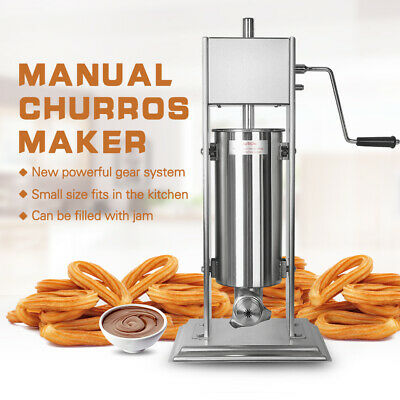 Commercial Vertical Manual Churros Maker Donut Machine Stainless  5/7/10/15L