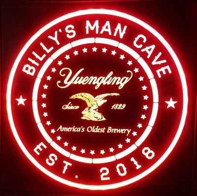 Custom Yuengling Beer LED Sign Personalized, Home bar pub Sign, Lighted Sign