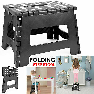 Heavy Duty Plastic Step Stool Foldable Multi Purpose Home Kitchen Use Library Uk