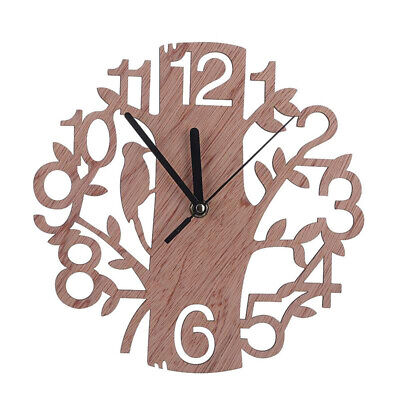 Creative Tree Shaped Wooden Wall Clock House Living Room Decoration S3B5