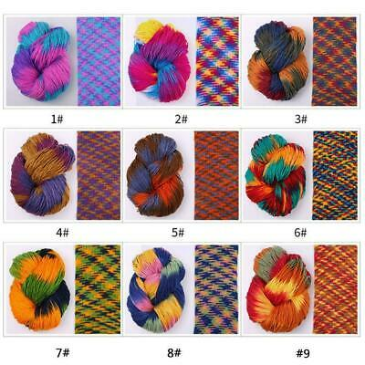 Fancy Mixed Colorful Knitting Yarn Acrylic Dyed Hand-Knitted Crochet Hot Th G6A6