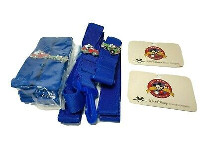 Walt Disney World Travel Company Blue Pin Trading Lanyards 4 Pack Mickey Donald