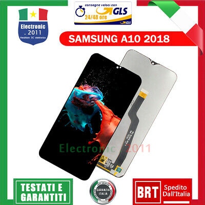 Samsung Galaxy A10 2018 Sm A105 F Fn Ds Display Lcd Touch Screen Vetro Schermo