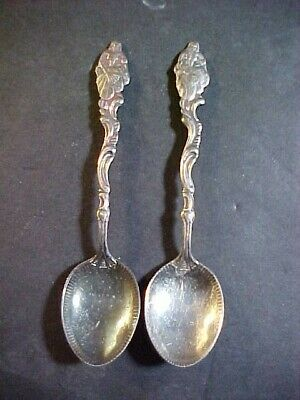 Pair Of Dancing Girl Silver Plated Coffee Spoons! Sweden