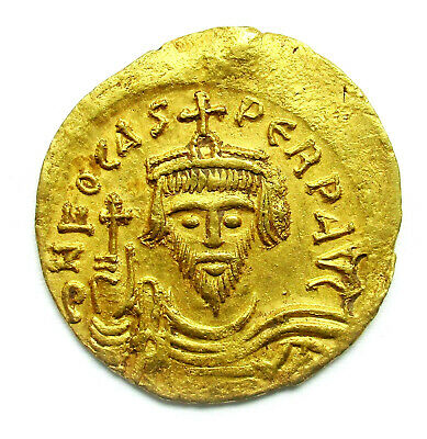 Constantinople Gold Solidus 602-610 Constantinople Coin Phocas