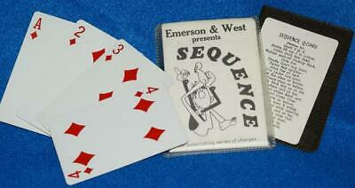 SEQUENCE -- Emerson & West (original, vintage 1970's packet, complete)    TMGS