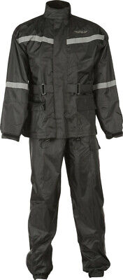 Fly Racing 2-PC Rainsuit Black #6016 478-8010~5 XL