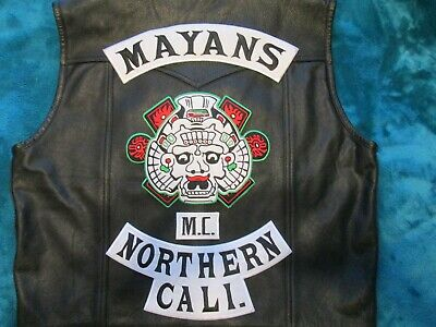 Motorcycle club MC colors new XL vest and club T shirt L & Knife & H A sticker