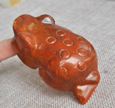 Chinese ancient old hard jade hand-carved pendant necklace ~Toad M67