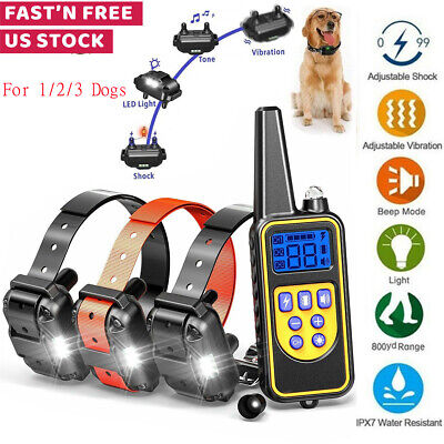 Dog Shock Collar With Remote Waterproof Electric For Large 880 Yard Pet Training