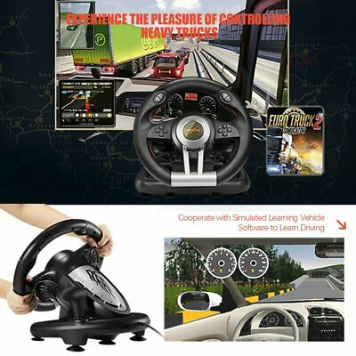PXN V3II Racing Game Lenkrad mit Bremspedal für PC/PS3/PS4/XBOX ONE/SWITCH AET