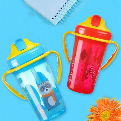 Kid Baby Cartoon Water Bottle Cup Portable Feeding Bottles With Straw Leak Proof