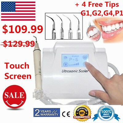 Touch Screen Portable Dental Ultrasonic Piezo Scaler Handpiece Tips fit EMS USA