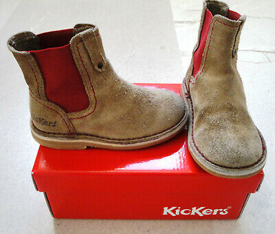 Cuir 24 Fille CROUTE Taille Chaussures de BOTTINES KICKERS OX8wk0nP