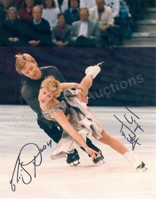 Jayne Torvill Christopher Dean Signed Autograph Photo Skating Winter Olympics