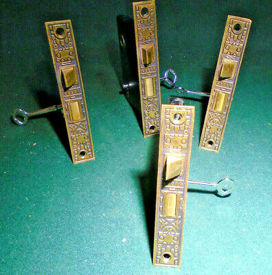 """12285 CIRCA 1900 FACEPLATE 5 3//8/"""" ONE SARGENT #5334 MORTISE LOCK with KEY"""